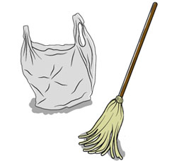 How to Unblock a Blocked Toilet - Guaranteed!! Using Just a Mop and a Bag
